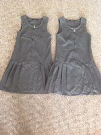 Girls school pinafore dresses age 6-7