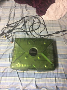 Original Xbox with 16 games and 4 controllers