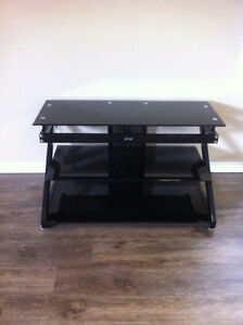 Brand New Tv Stand, Black, Z-Line Designs, 2 Glass Shelves