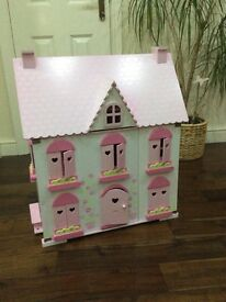 ELC wooden rosebud dolls house