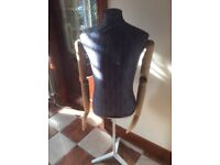 Sturdy adjustable height tailors dummy moving arms&Hands cost £245