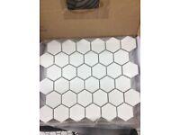 Hexagonal floor and wall tiles