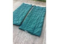 X2 Coleman sleeping bags will also make in to a double camping tents ect