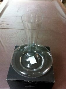 Bowring Wide Base 1.5L Glass Wine Decanter *New In Box*