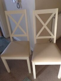 SET OF FOUR MODERN DINING CHAIRS. X. 4 .
