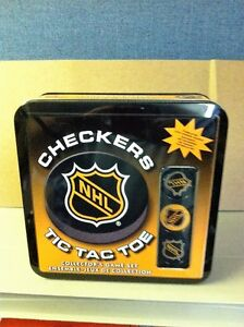 NHL Checkers / Tic Tac Toe Collector's Game Set *NEW*