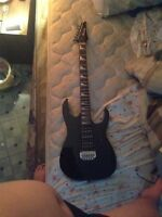 Ibanez gio electric guitar with mustang v2 amp