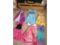 Girls Disney dresses and misc other dress up/costumes