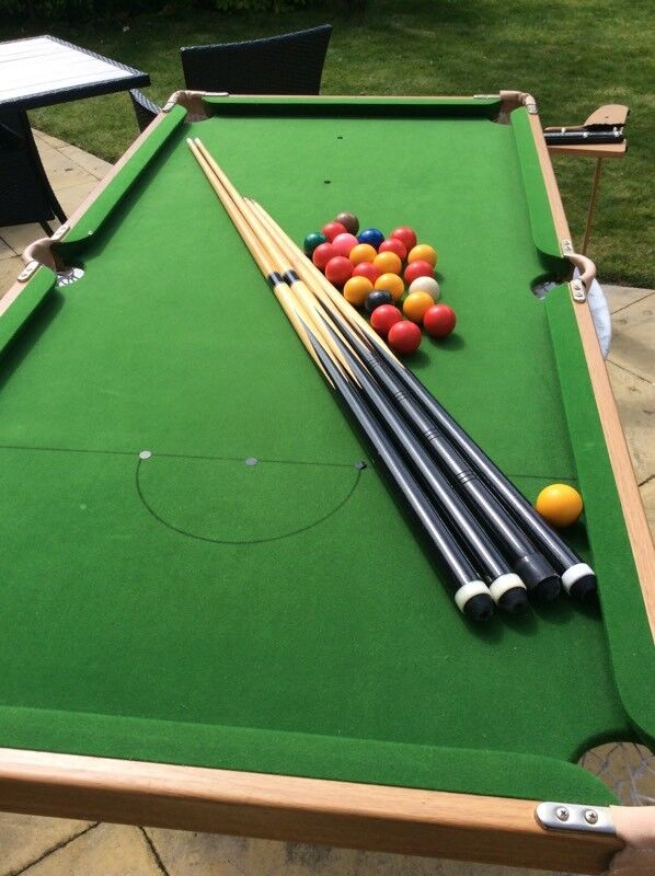 Junior sized Snooker/Billiards Table by BCE with Cues
