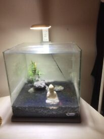 Fish tank with led light, filter and heater