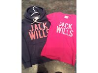 Jack Wills hoodie and t-shirt both size UK10 good condition £10