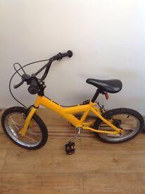 Boys or girls bike Age 3-6