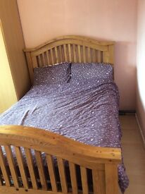Reconditioned Oak Double Bed