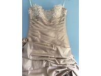 Beautiful wedding dress and shawl