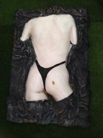 Wall art 3D semi nude plaque
