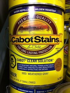 Cabots Clear Solution - 3003 Weathered Gray
