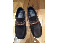 Wannabe by PATRICK Cox Brown Suede Loafers woman's size 37EUR-4UK