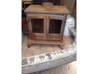log burner double doors