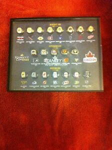 Molson Stanley Cup Ring Set with Framed Ring Display Case