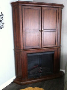 Beautiful electric fireplace with TV cabinet