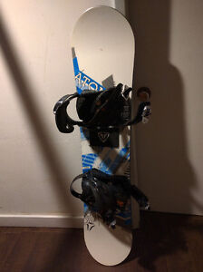 120cm Atomic Snowboard with new Bindings - $100