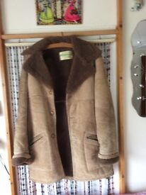 SPLIT SUEDE LEATHER COAT (SMALL)