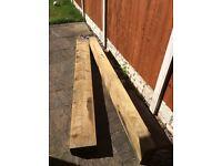 Wooden railway sleepers raised bed garden project.