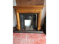 Fireplace, insert and hearth surround