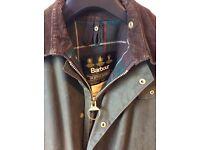 Barbour Northumbria wax cotton jacket size36