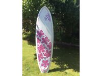 Surf board for sale with bag