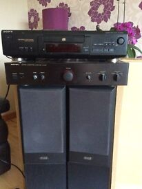Amplifier/cd player/floor standing speakers for sale