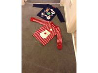 Boys Christmas t shirts from next and debnehams age 2-3 years
