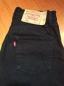 Levi 501 black jeans W26 L30 £10