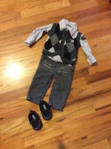 Pantalon, chemise et débardeur Mexx 6-9 mois