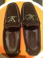 Men's suede LV loafers size 10-10,5