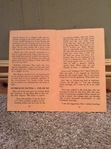 "Ann Landers vintage 1965 ""Dating do's and Don'ts"" booklet Kitchener / Waterloo Kitchener Area image 2"