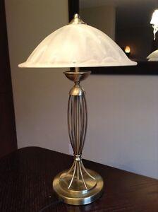 lampe de table de cuivre / brass table lamp