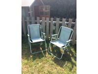 Garden chairs sage green lounger fold up chairs picnic