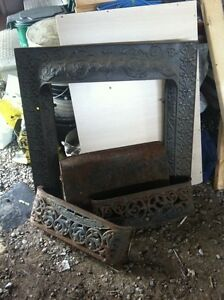 Antique fireplace surround