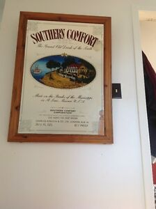Vintage large Southern Comfort mirror, British edition Kitchener / Waterloo Kitchener Area image 1