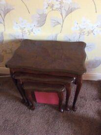 Dark gloss mahogany tables