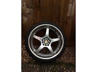 Set of KEI racing alloys fits civic golf corsa Impreza and many more...