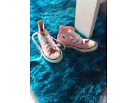 Converse baseball boots for the girl who likes to be in the PINK!!!