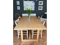 Habitat Wooden Dining table and 4 chairs