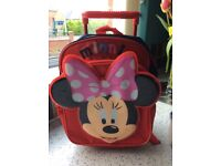 Minnie Mouse Kids Childrens Suitcase Backpack Wheelie