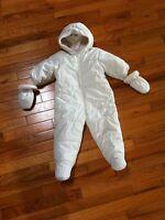 White baby snowsuit size 6-12 months