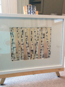 Framed Watercolour BIRCHES, Original
