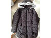 Girls Black Winter Coat 9 - 10 years