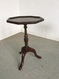 Small wooden octagon table