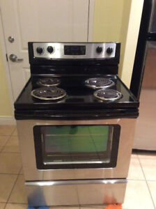 Whirlpool stainless steel coil stove for sale